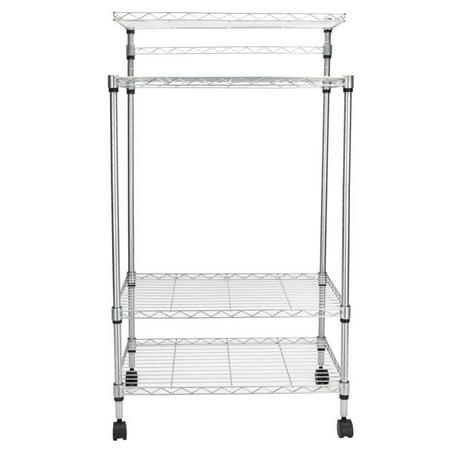 Ktaxon 4 Tier Kitchen Island Bakers Cart Rack Microwave Oven Stand Shelf Workstation