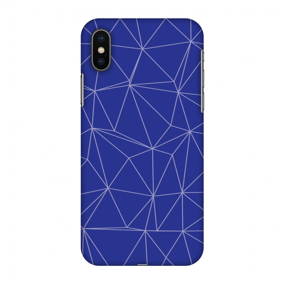 iPhone X Case, Premium Handcrafted Designer Hard Shell Snap On Case Printed Back Cover with Screen Cleaning Kit for iPhone X, Slim, Protective - Carbon Fibre Redux Coral Blue 14