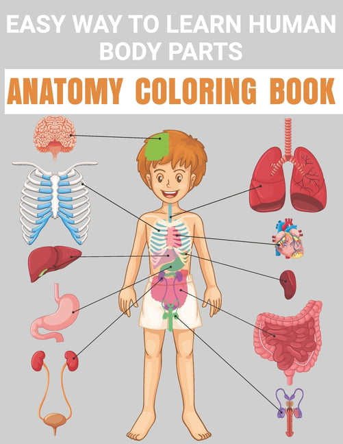 Easy Way To Learn Human Body Parts Anatomy Coloring Book : Cool Easy To  Learning Anatomy For