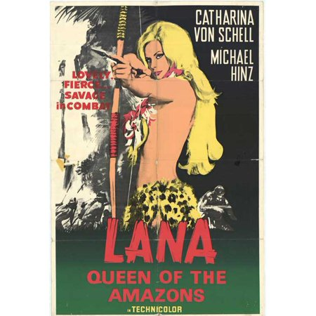 Lana Queen Of The Amazons Poster Movie Mini Promo