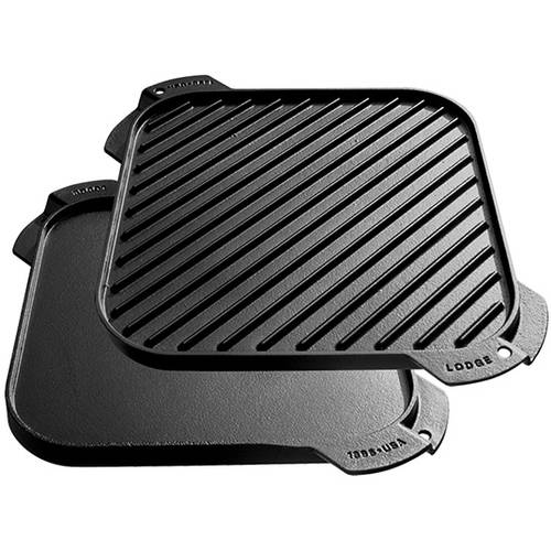 Lodge Single Burner Reversible Cast Iron Griddle
