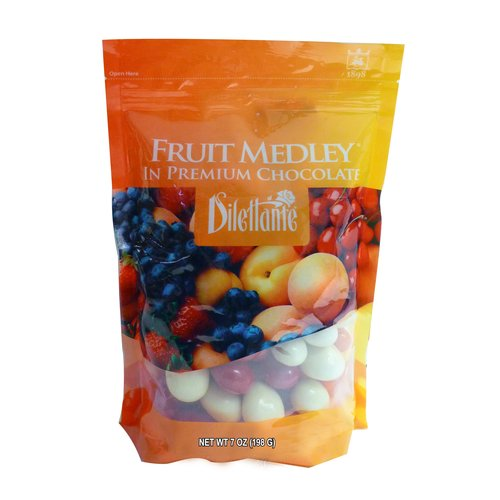 Dilettante Fruit Medley in Premium Chocolate, 7 oz