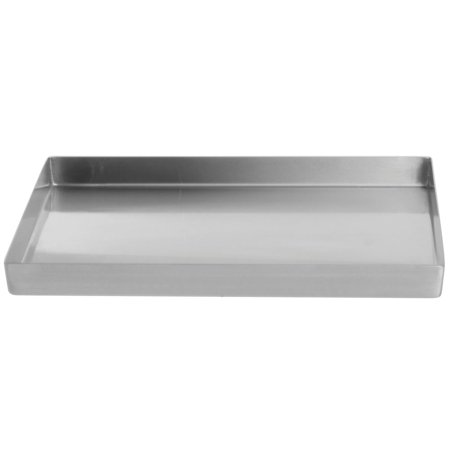 """Food Merchandsing Pans With Tapered Corners Stainless Steel Deli Display Pan 10"""" L x 12"""" W x 1"""" D"""