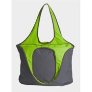Peerless VEST001-Gray-Lime Village Zipper Tote Bag, Gray And Lime