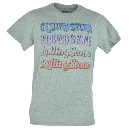 Rolling Stone Color Repeat Tshirt Grey Famous Magazine Graphic Tee Small
