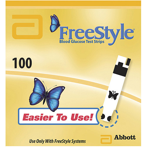 FreeStyle Blood Glucose Test Strips, 100 Ct