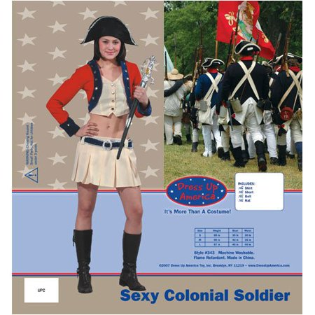 Halloween In Colonial America (Dress Up America Adult Sexy Colonial Soldier, Multi-Colored,)