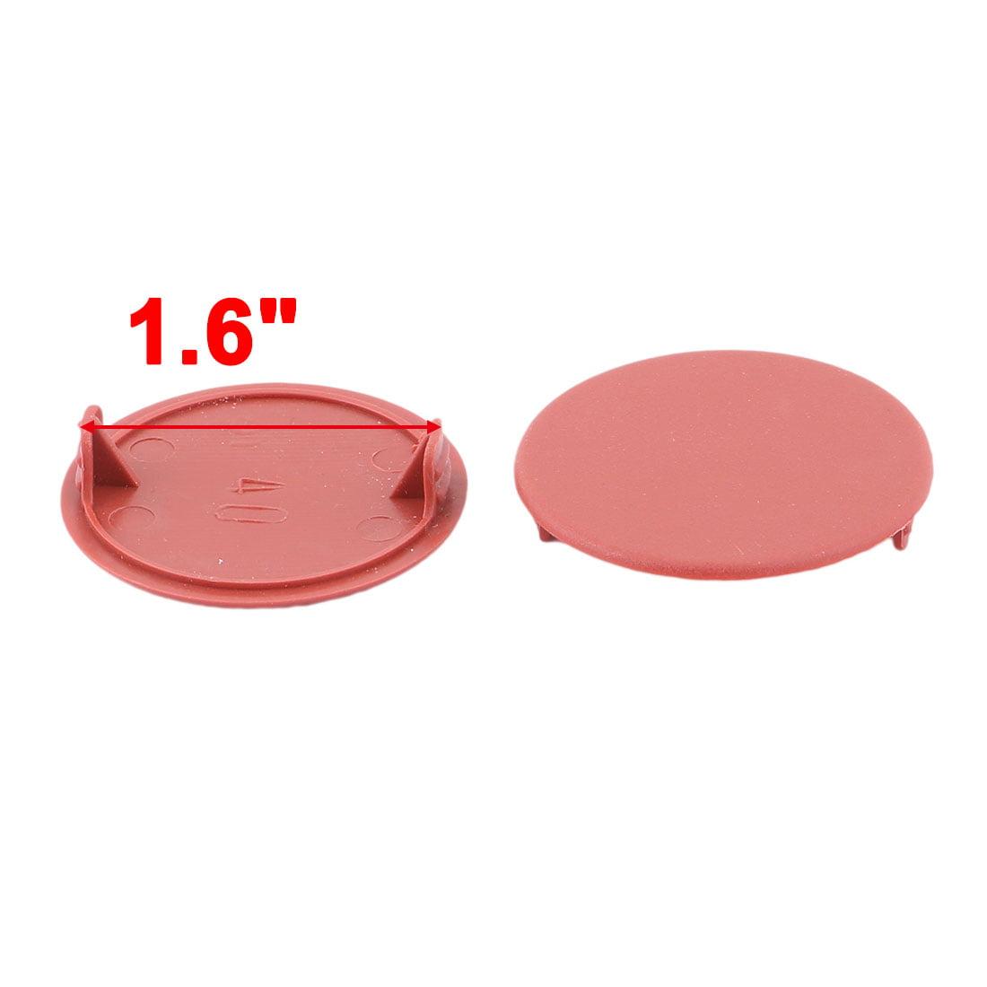 Home Plastic Round Shaped Dustproof Hole Lid Screw Cap Cover Brown 42pcs - image 2 de 3