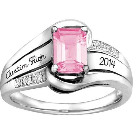 Keepsake Girls Emerald Fashion Class Ring