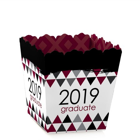 Maroon Grad - Best is Yet to Come - Party Mini Favor Boxes - Maroon 2019 Graduation Party Treat Candy Boxes - Set of 12