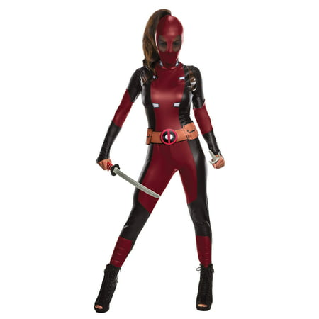 Deadpool Women Jumpsuit Halloween Costume (Deadpool Costume Spirit Halloween)