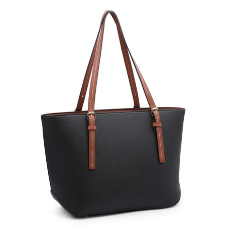 Laptop Tote Bag,Women PU Leather Handbags Top Handle Tote Bag for School Work Purse Totes ()