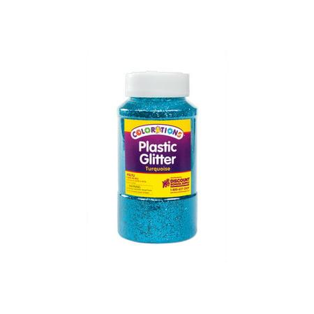 - Colorations Extra-Safe Plastic Glitter, Turquoise - 1 lb. (Item # GLTU)