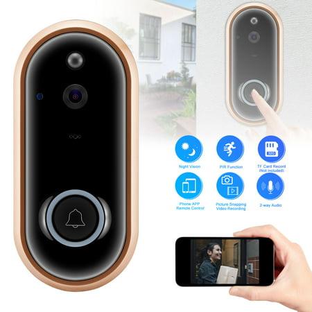 TSV WiFi Smart Video Doorbell Camera Door Bell 1080P Full HD Wireless Home Security Doorbell Intercom Camera Night Vision (Wired Video Door Intercom)