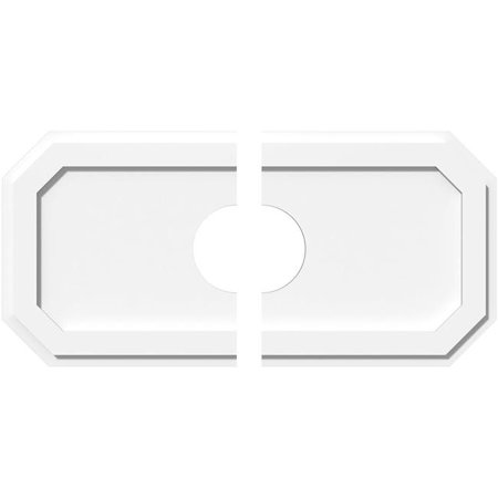 Ekena Millwork CMP32X16ED2-06000 6 in. ID x 11 in. Rectangle Emerald Architectural Grade PVC Contemporary Ceiling Medallion - 2 Piece - image 1 de 1