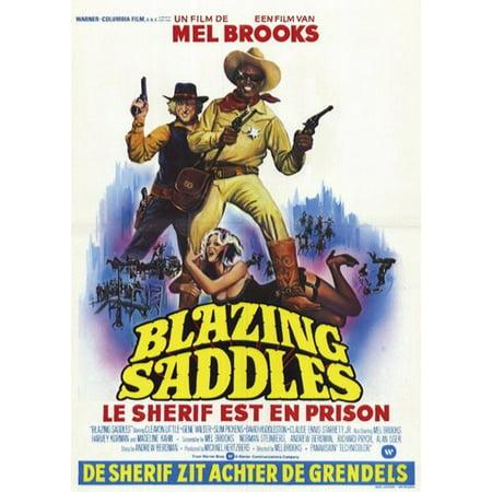 Blazing Saddles French Movie Poster 11 X 17