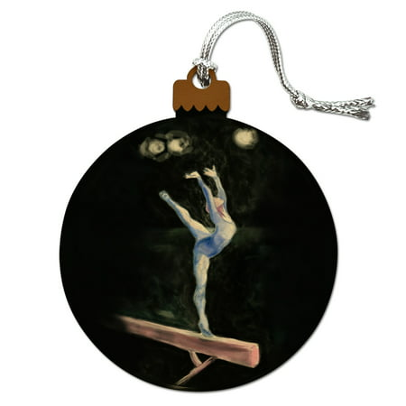 Female Gymnast on Vault Pommel Horse Gymnastics Wood Christmas Tree Holiday (Horse Tree Ornament)