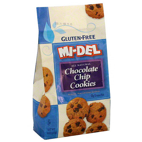 MI-DEL Gluten-Free All Natural Chocolate Chip Cookies, 8 oz (Pack of 12)