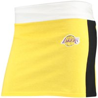 Los Angeles Lakers Refried Tees Women's Tee Mini Skirt - Gold/Black