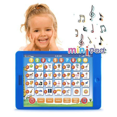 Boxiki kids Learning Pad Fun Kids Tablet with 6 Toddler Learning Games by Early Child Development Toy for Number Learning, Learning ABCs, Spelling,