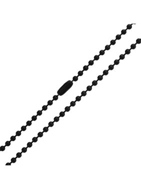 3MM Stainless Steel Plated Black Shot Beaded Ball Chain Necklace For Men For Teen 18 20 22 24 30 Inch