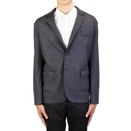 Lanvin Men's Wool Two-Button Sportscoat Jacket Grey (Lanvin Wool Coat)