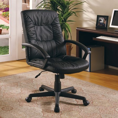 Coaster Black Padded Office Chair