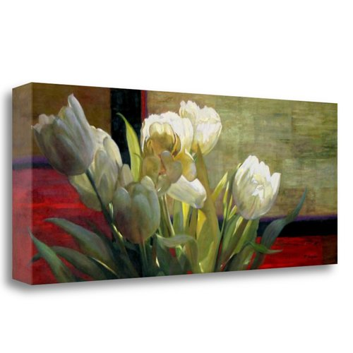 Tangletown Fine Art 'Tulips with Red' Graphic Art Print on Wrapped Canvas