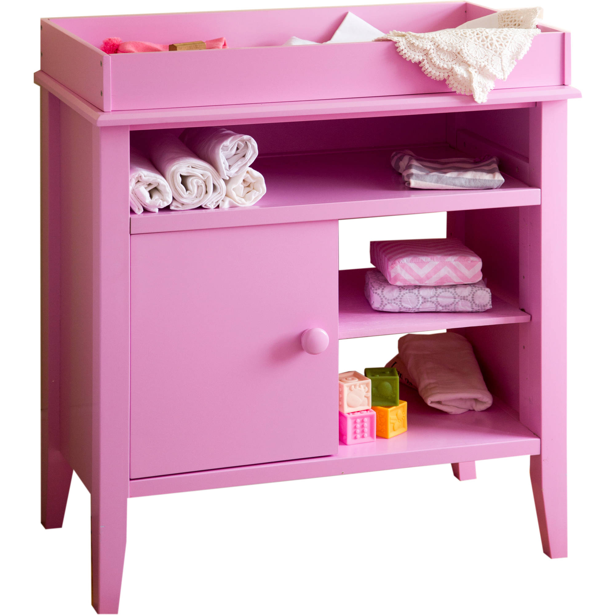 Lolly and Me Universal Changing Table, Bubblegum Pink