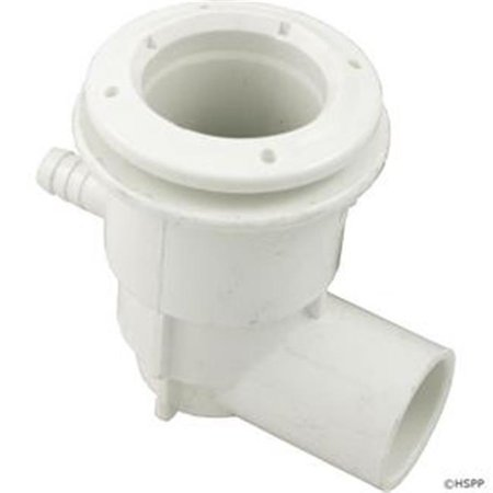 Waterway Plastics 222-1050 Adjustable Mini Jet Body Assembly, 0.75 in. S Water x 0.37 in. B Air, 1.75 in. Hole Size with Wall Fitting