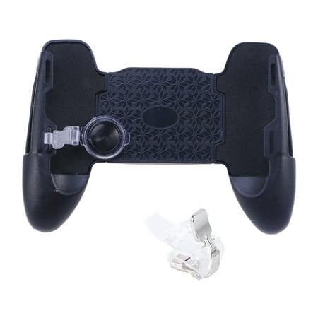 Phone Game Controller Ergonomic Design Mobile Joystick Joypad Gamepad Handle Holder Grip Handgrip Stand Game Clutch with Clip (Black)
