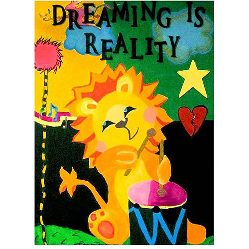 "Trademark Fine Art ""Dreaming is Reality"" Canvas Wall Art by Amanda Rea"