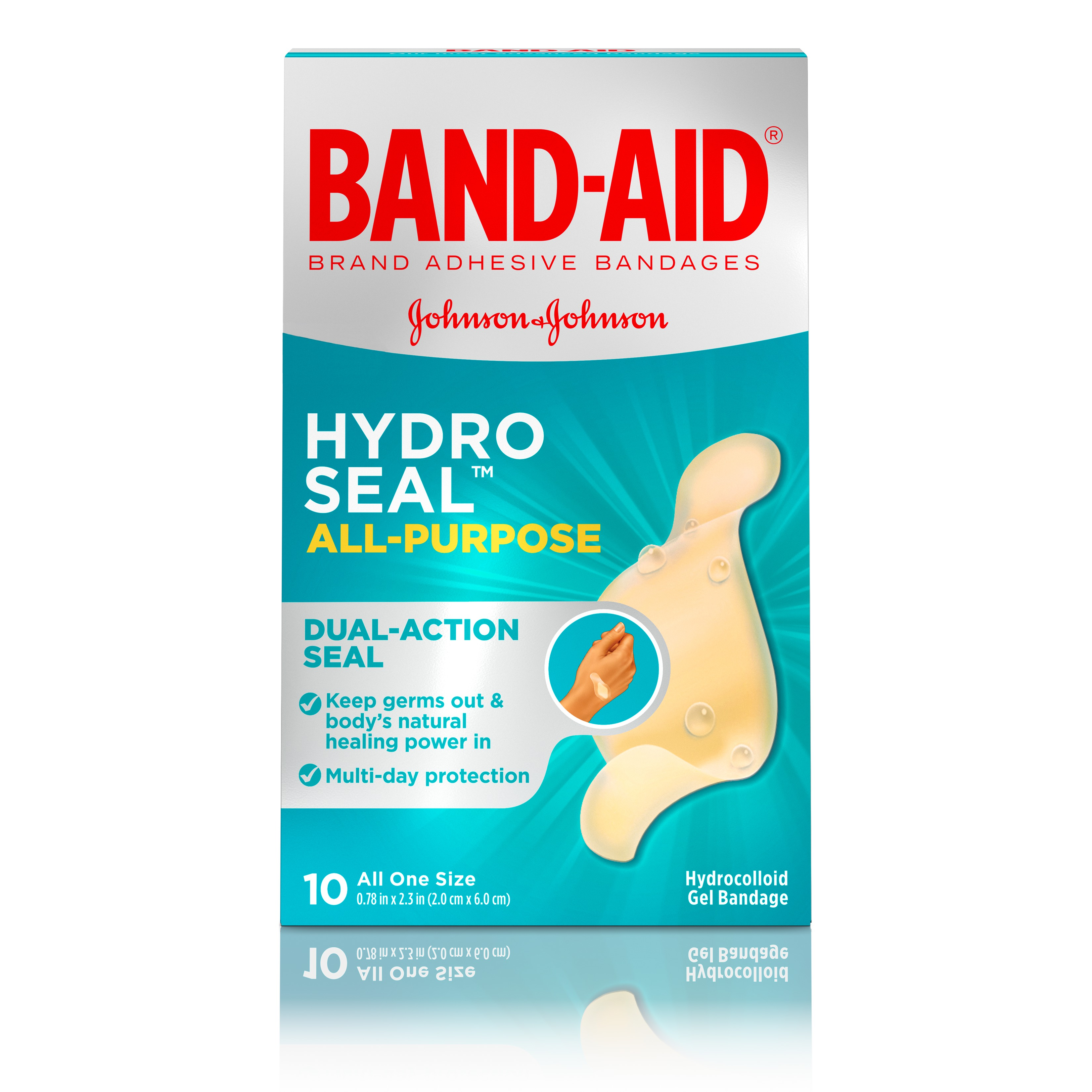 Band-Aid Brand Hydro Seal All Purpose Adhesive Bandages, 10 Count