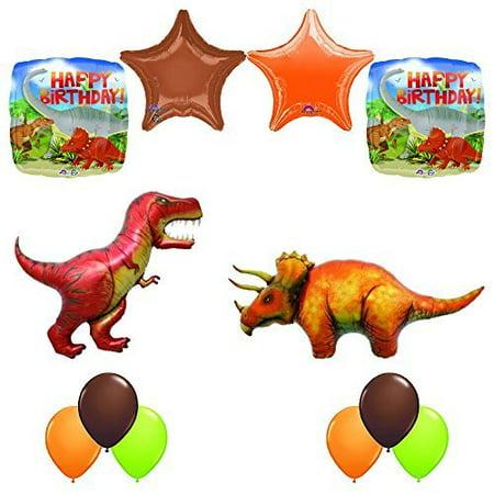 Prehistoric Giant T-REX and Triceratops Birthday Dinosaur Balloon (Dinosaur Balloons)
