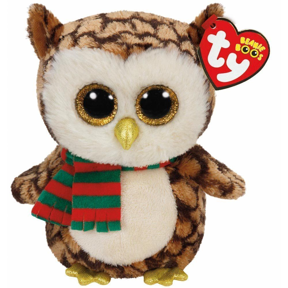 Ty Wise the Owl with Scarf Beanie Boos Stuffed Plush Animal Toy