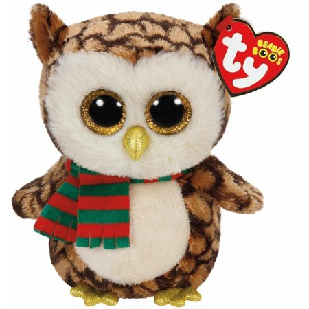 Ty Wise the Owl with Scarf Beanie Boos Stuffed Plush Animal Toy - Stuffed Owl Toy