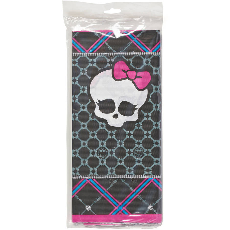 Monster High Plastic Table Cover, 54 in. x 96 in., Party Supplies