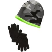 Faded Glory Boys Reversible Hat and Glove Set