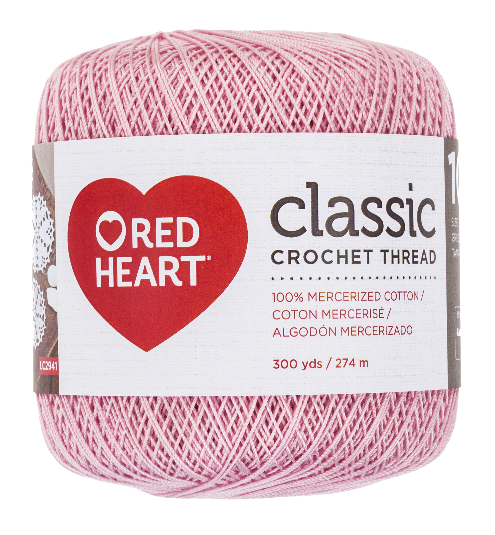 RED HEART CLASSIC SIZE 10 ORCHID PINK
