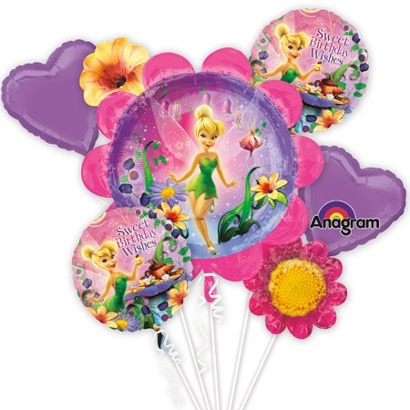 Tinkerbell Balloon Bouquet (Each) - Party Supplies - Tinkerbell Balloon