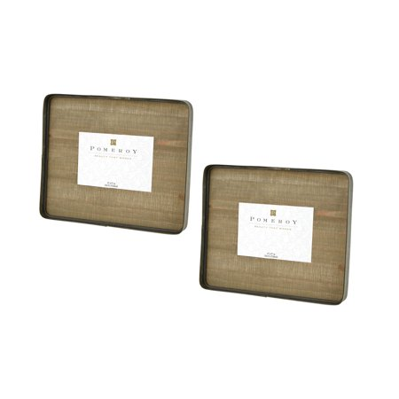 Pomeroy Cambridge Wood And Metal Photo Frame Set Of 2 In Brown Finish 649271/S2