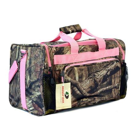 KC Caps Mossy Oak Pink Camouflage Duffle Gear Sport Gym Shoulder Travel Bag