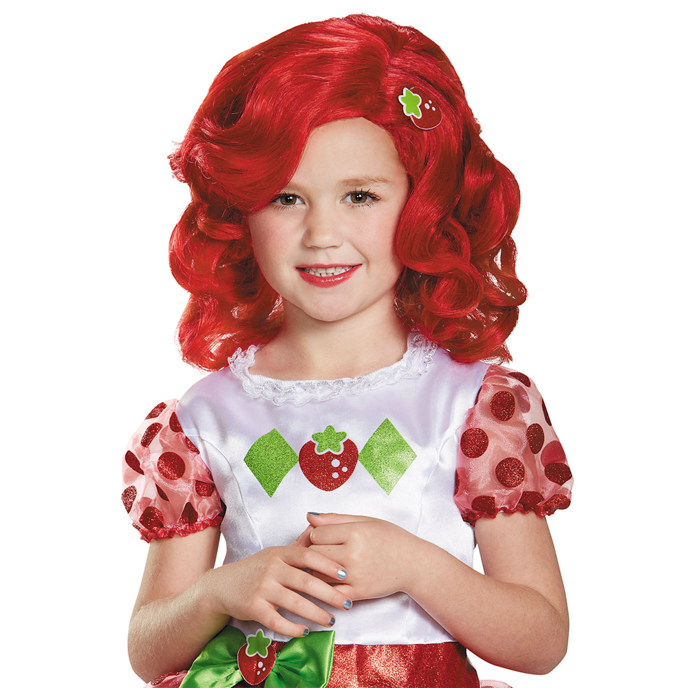 Girls Strawberry Shortcake Deluxe Wig