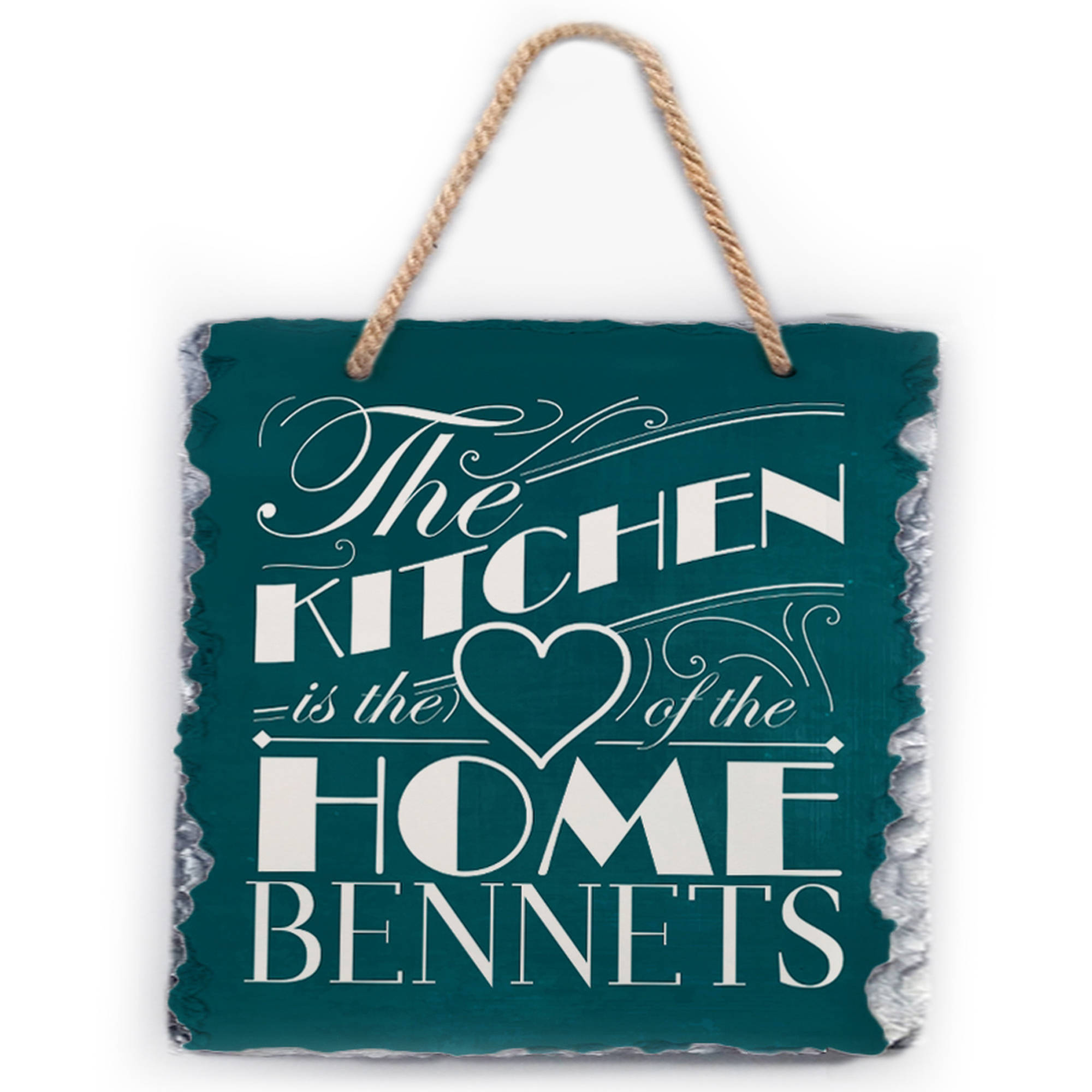 "Personalized Kitchen Is The Home Slate Plaque, 11.8"" x 9.84"""