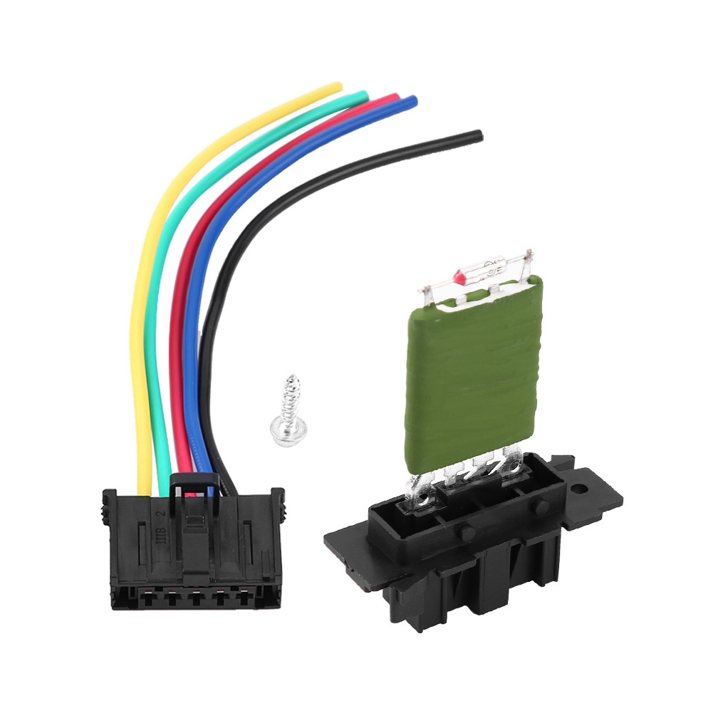 Motor Blower Fan Resistor with Wiring Repair Plug Harness for Fiat Grande Punto Qubo Blower Resistor Blower Regulator in Regulating the Temperatures of Heating and Cooling Conditions