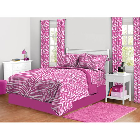 zebra print complete bed in a bag bedding set walmart com