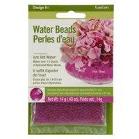 FloraCraft Design It Pink Water Beads Perles d'eau, 0.49 Oz.