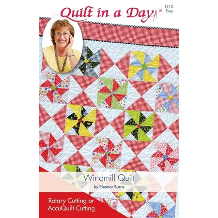 Windmill Quilt Pattern by Eleanor Burns #1213, Pattern only By Quilt In A (Pumpkin Quilt Pattern)