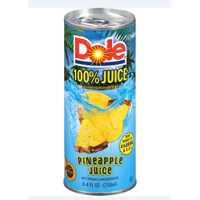 Dole 100% Pineapple Juice, 8.4 Fl Oz