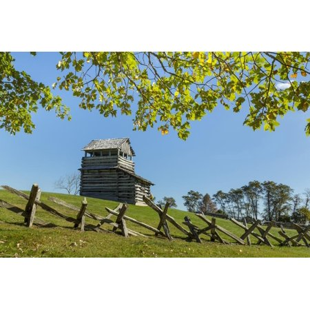 Virginia, Blue Ridge Parkway. Groundhog Mountain Wooden Lookout Tower Print Wall Art By Don